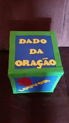 Dado da Oraçao Sunday School Lessons, Kids Church, Kindergarten Classroom, Crafts For Kids, Projects To Try, Education, Toys, Children, Sunday School Decorations
