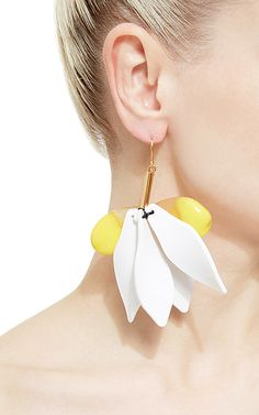 Marni - Resin Earrings in Yellow