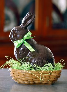 Chocolate Easter Bunny Tabletop Decor