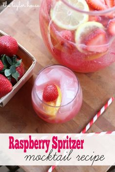 Raspberry Spritzer Mocktail, Trop 50