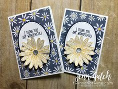 Delightful Daisy Note Card Set & CLASS! - Twins and Twine