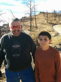 Dad is happy he got his son up on the SANTA FE JEEP TOURS / DOME TRAIL. Son has that (fine, its not as bad as i thought it would be) look on his face...lol
