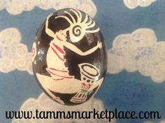 Real Chicken Egg hollowed and dyed with wax resist technique QEG085 – Tamm's Marketplace