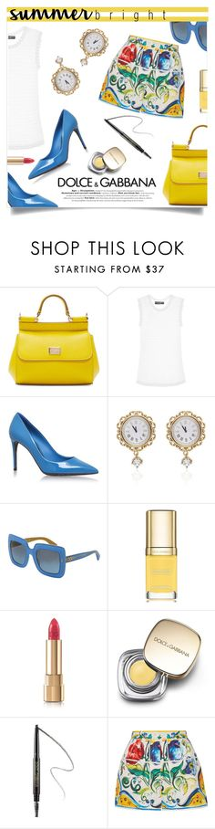 """Summer Brights: Dolce & Gabbana"" by simona-risi on Polyvore featuring moda, Dolce&Gabbana e summerbrights"