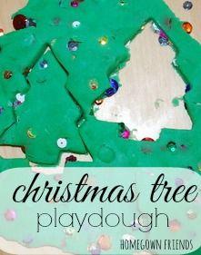 Christmas Tree Playdough Recipe (Homegrown Friends)