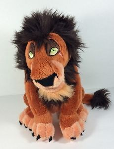 "Disney Parks Lion King Movie Stuffed Animal Scar 11"" Plush Authentic Original   eBay"