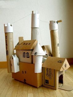 Crazy cool upcycled castle!