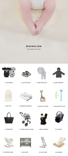 New baby checklist the first 6 weeks kelli murray for Minimalist essentials