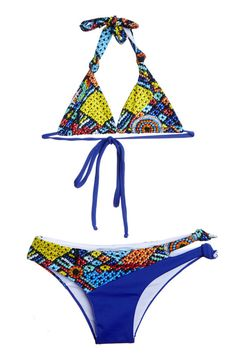 639679837 Beaded Blue Kids Swimsuit Bikini Two Piece