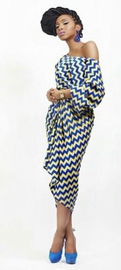 See more latest Styles >> http://www.dezangozone.com/ The top would be in lemon cotton, draped, and the wrapper skirt would be this length.