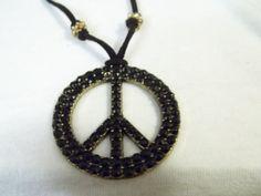 Dazzling Black Peace by BackyardBeader on Etsy, $20.00