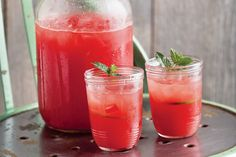 Wow! This flavor-packed limeade is a real thirst quencher during the dog days of summer, when watermelon is at its best. Should a festive occasion arise, it also makes a wonderful margarita mixer when paired with premium white tequila.