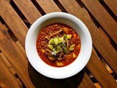 Lentejas con ajos tiernos y jengibre, por Patxi Gimeno, cocinero deportivo. www.patxigimeno.com