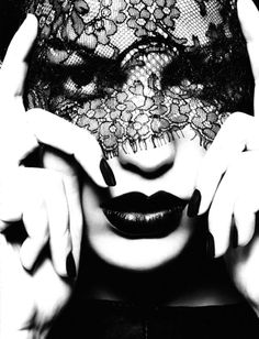 black lace love. Cameron Russell by Ben Hassett for Oct. 2010 Numero