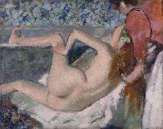 After the Bath, Edgar Germain Hilaire Degas, about 1895