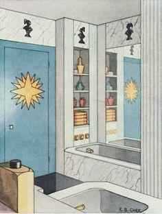 bathroom - door + cupboard The Peak of Chic®