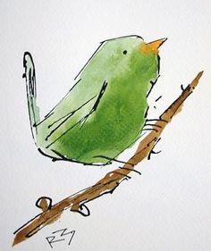 Watercolor Birdsby Richard McKey