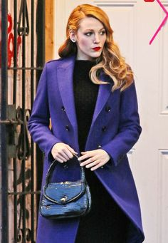 Blake Lively filming scenes for her new movie The Age of Adaline on Tuesday (April 29) in Vancouver, Canada.