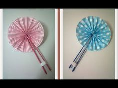 ▶ DIY : #8 Cute Hand Fan ♥ - YouTube video tutorial by Syafa Saurus; you only need nice paper, a hot glue gun, 2 spits of wood and a piece of braid. So simple and beautiful and useful :-)