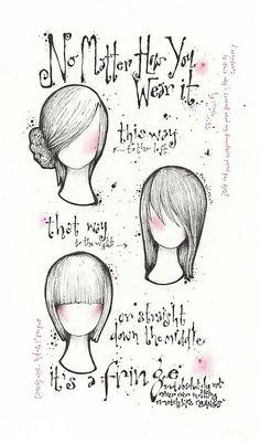 Dibujo de cabellos