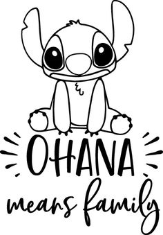Disney inspired Lilo and Stitch Ohana Means Family Vinyl Decal Sticker for car tumbler gift decor gl, Lilo And Stitch Drawings, Lilo And Stitch Ohana, Easy Disney Drawings, Easy Drawings, Lilo Y Stitch Dibujo, Cajas Silhouette Cameo, Disney Silhouette Art, Disney Silhouettes, Stitch Coloring Pages