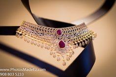 Flat diamond necklace latest jewelry designs - Page 2 of 17 - Indian Jewellery Designs Indian Jewelry Sets, Indian Jewellery Design, Bridal Jewelry Sets, Wedding Jewelry, Jewelry Design, Bridal Jewellery, Designer Jewellery, India Jewelry, Bling Bling