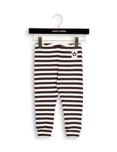 Stripe rib leggings, brun
