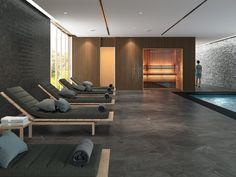 El porcelánico es, como alternativa al gresite, el material más competitivo para el revestimiento de piscinas y su entorno. Descubre lo último en azulejos para piscina con todas las garantías de durabilidad, antideslizamiento y seguridad. Small Bathroom Paint, Bathroom Floor Tiles, Wall And Floor Tiles, Wall Tiles, Backsplash Tile, Bathroom Wall, 12x24 Tile, Window Over Sink, 3d Tiles