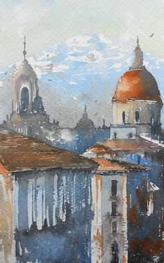 Watercolor Painting, Catania, Sicily--Duncan Halleck 2016