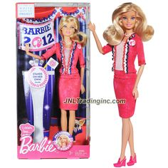 "Barbie ""I Can Be"" The White House Project Series 12"" Doll - BARBIE as B Party PRESIDENT (X5323) in Pink Blazer and Skirt with Necklace and Earrings"