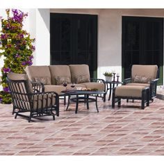 Aruba 6-piece Patio Deep Seating Set