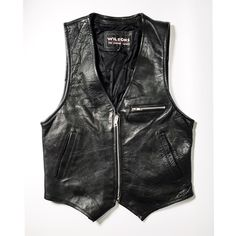"""Cool biker leather vest. Vintage & super stylish! Simple but unique vest with genuine leather, structured fit, perfect for layering. A unique elegant staple piece for any vintage collection.  Tag: Small Fits Like: Small Condition: Perfect - No stains or major scratches  - - - - - - - - - - - - ↟Please keep in mind that vintage means """"previously loved"""" and is at least 10 years or older. Clothing may show slight signs of wear which adds to it's character and charm↟ Jackets & Coats Vests"""