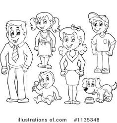coloring my family drawing – Coloring Kids