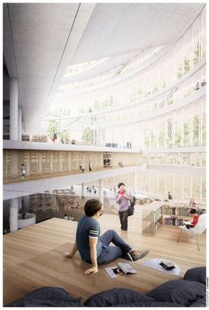 Gallery of nArchitects Wins Shanghai Competition with Home-Inspired Library - 5