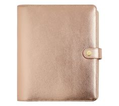 LIMITED EDITION LEATHER PERSONAL PLANNER LARGE: ROSE GOLD