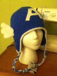 Superhero crochet hat