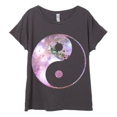 Womens Boho Galaxy Ying Yang Peace Festival Shirt Trendy Tumblr Tee... (£20) ❤ liked on Polyvore featuring tops, t-shirts, shirts, white, women's clothing, white cotton shirt, vintage tees, t shirts, short sleeve tee and white t shirt