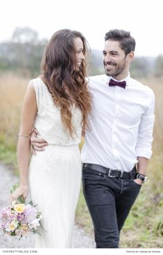 Bohemian inspired couple | Photograph by Corina De Stefani, The Wedding Day | Styled Shoots
