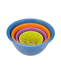 Take a look at this Turquoise Confetti Mixing Bowl Set by Zak Designs on #zulily today!