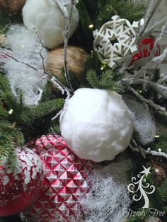 "Bag of Snowball Ornaments  Size: 4""  Color: White  Material: Styrofoam  This item is on order and arriving Summer 2015"