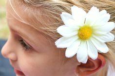 Daisy hair clip on etsy.com
