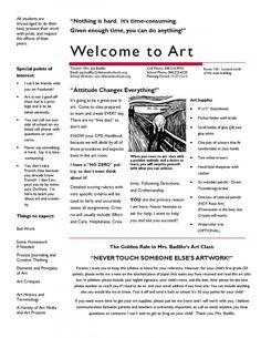 art syllabus middle school - Google Search