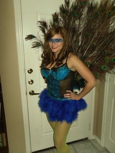 diy peacock costume #halloween