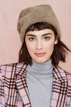 Hat Attack Leonore Angora Beanie at Nasty Gal