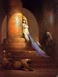 "Frank Frazetta - Egyptian Queen - Funky Fantasy Art - Funk Gumbo Radio: http://www.live365.com/stations/sirhobson and ""Like"" us at: https://www.facebook.com/FUNKGUMBORADIO"