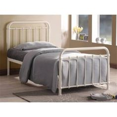 Buy Ivory Metal Bed Frame - Single 3ft from our Single Beds range - Tesco
