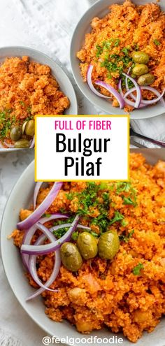 This Lebanese style Bulgur Pilaf recipe is hearty, healthy and delicious; it is full of fiber and infinitely customizable. Easy recipe for bulgur wheat.| Healthy Recipes | Hearty Meals | #pilaf #mediterranean #dinner #feelgoodfoodie Healthy Ramadan Recipes, Healthy Living Recipes, Healthy Dinner Recipes, Vegetarian Recipes, Easy Family Dinners, Family Meals, Family Recipes, Weeknight Meals, Quick Meals