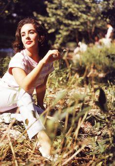Elizabeth Taylor on the set of Raintree County (1957)