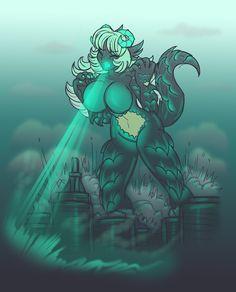 Kaiju Girl Rampage by AkuOreo.deviantart.com on @DeviantArt