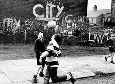 Boys Play Football in the Street - Moss Side, Manchester ft. Shirley Baker